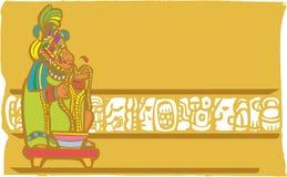 Sacrificio Mayan di salasso Fotografia Stock Libera da Diritti