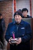 Sacrificio rural del festival de primavera de China Imagen de archivo libre de regalías