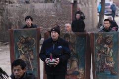 Sacrificio rural del festival de primavera de China Fotos de archivo libres de regalías