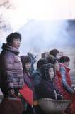 Sacrificio rural del festival de primavera de China Fotografía de archivo