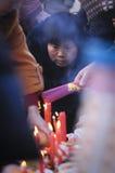 Sacrificio rural del festival de primavera de China Imagen de archivo