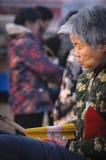 Sacrificio rural del festival de primavera de China Foto de archivo libre de regalías
