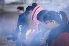 Sacrificio rural del festival de primavera de China Fotos de archivo