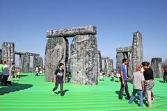 Sacrilege aufblasbares stonehenge Lizenzfreie Stockfotografie