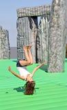 Sacrilege inflatable stonehenge Stock Photography