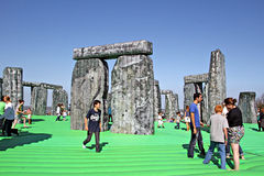 Sacrilege inflatable stonehenge Royalty Free Stock Photography