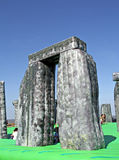 Sacrilege inflatable stonehenge Royalty Free Stock Images
