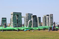 Sacrilege inflatable stonehenge Stock Photos