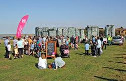 Sacrilege inflatable stonehenge Stock Images