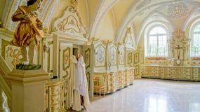 Sacristía en el santuario de nuestra señora de Gidle Fotos de archivo
