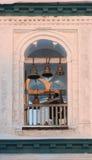 Sacristain sur la tour de cloche Images stock