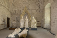 Sacristia norte, DES Papes de Palais, Avignon, França Fotos de Stock Royalty Free