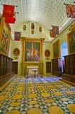 Sacristie de la Co-cathédrale de St John, La Valette, Malte images libres de droits