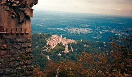 Sacro瓦雷泽Monte也叫圣玛丽亚del Monte,瓦雷泽 免版税库存图片