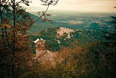 Sacro瓦雷泽Monte也叫圣玛丽亚del Monte,瓦雷泽 库存照片
