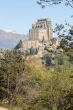 Sacro di San Michele Saint Michael Abbey na montagem Pirchiriano Foto de Stock