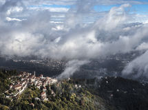 Sacro Monte二瓦雷泽,伦巴第-意大利 免版税库存图片