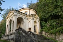 Sacro Monte二的瓦雷泽第八个教堂 意大利 免版税图库摄影