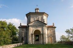 Sacro Monte二的瓦雷泽第十四个教堂 意大利 库存图片