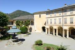 Sacro Monte av Varallo det heliga berget, Italien Arkivbild