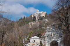 Sacro Monte av Varese Santa Maria del Monte, Italien, världsarv—Unesco royaltyfri fotografi