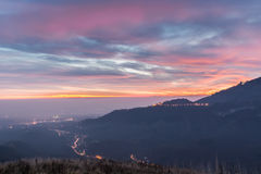 Sacro Monte av Varese, Varese och Po-dalen, Italien Royaltyfri Bild