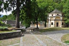Sacro Monte Calvario,多莫多索拉,意大利 免版税库存图片