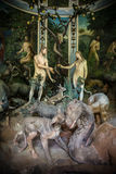 Sacro Monte di Varallo, Piedmont, Italy, June 02 2017 - biblical characters scene representation of Adam and Eve in the Eden Stock Photo
