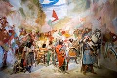 Sacro Monte di Varallo, Piedmont, representação bíblica da cena de Itália dos três Reis Magos em Bethlehem imagem de stock
