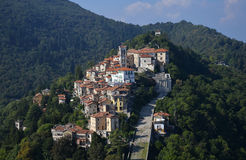 Sacro monte di Varese, Lombardy, Italy. Aerial view Royalty Free Stock Image