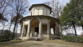 Sacro Monte Orta Сан Giulio, Италии сток-видео