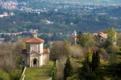 Sacro monte of Varese, Italy Stock Photos