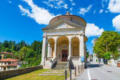 Sacro Monte of Varese - Santa Maria del Monte, Italy.  In 2003 entered from UNESCO in list of World Heritage. Starting point for the Via Sacra with 14 chapels Stock Photo