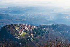 Sacro Monte von Varese, Varese, Italien Rechts die heilige Weise mit sechs Kapellen Stockfoto