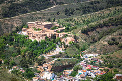 Sacromonte abbey in Granada, Andalusia, Spain Stock Photos