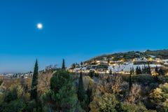 Sacromonte del camino de Avellano en Granada, España Imagen de archivo libre de regalías