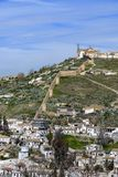The Sacromonte view from La Alhambra stock photography