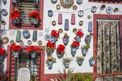 Sacromonte, traditional neighborhood,flowered typical house dec. Oration.Granada, Spain stock images