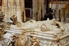 Sacrophagus of Ferdinand and Isabella. Sarcophagus of Ferdinand and Isabella inside the Capilla Real, Granada, Granada Province, Andalusia, Spain, Western stock image
