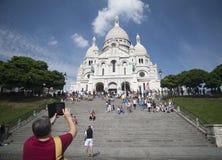 sacrur för basilique c du paris royaltyfri bild