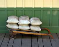 Sacs à farine Photographie stock