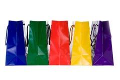 Sacs à provisions colorés Images stock