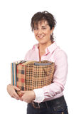 Sacs à provisions de fixation de femme photo stock