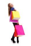 Sacs à provisions de transport de femme Photographie stock libre de droits