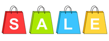 Sacs à provisions de vente Image stock