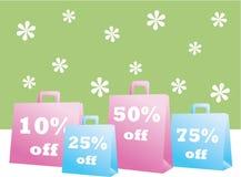 Sacs à provisions de vente de source Photo stock