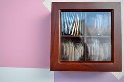 Sacs à thé de boîte Images libres de droits
