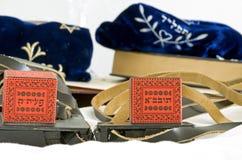 Sacs antiques de tefillin Photographie stock libre de droits