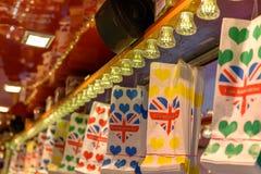 Sacs colorés de sucrerie Photographie stock