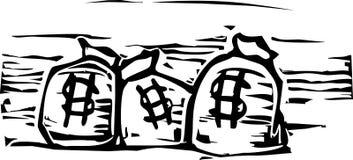 Sacs d'argent illustration de vecteur